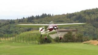 Cessna 195 takeoff Riedelbach
