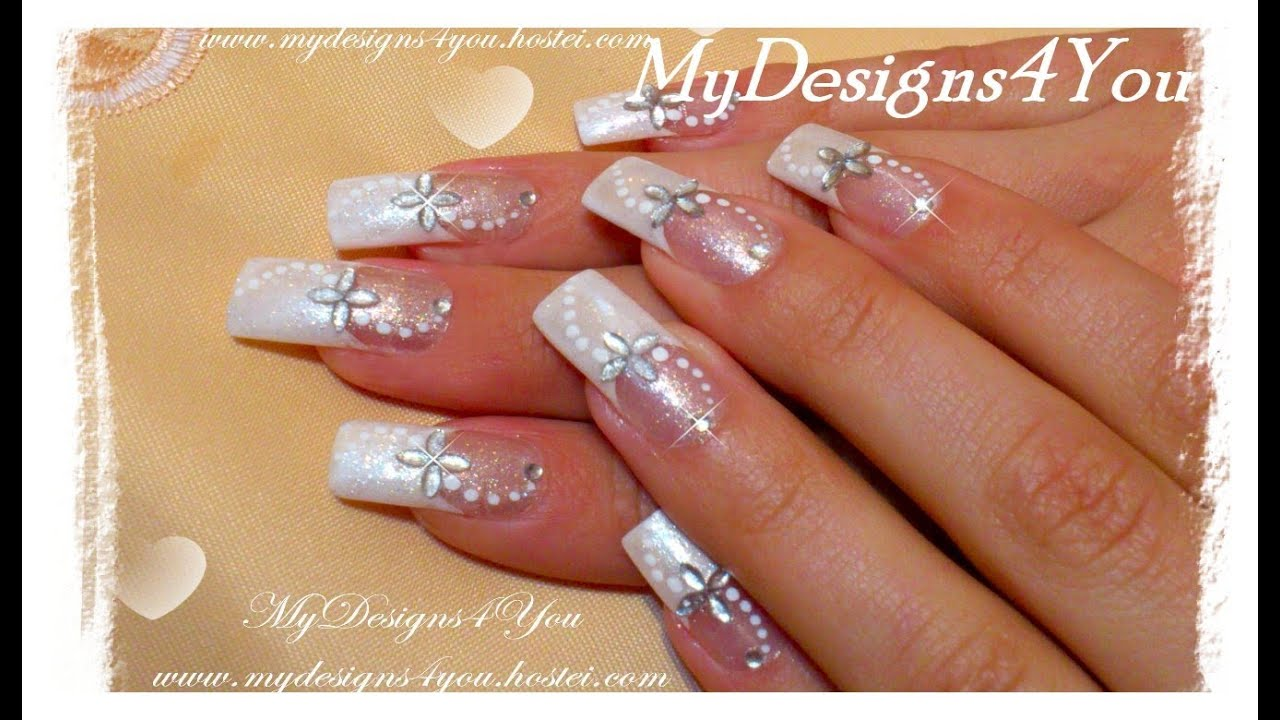 Easy Bridal Nail Art Tutorial