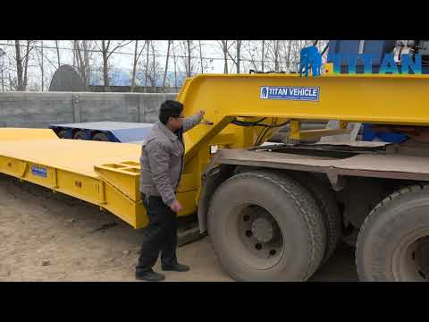 TITAN Hydraulic Lowbed Front Loading Lowboy Trailer Gooseneck Operation