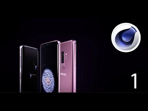 Maxon Cinema 4d - Modeling Samsung Galaxy S9 - Tutorial Part 1