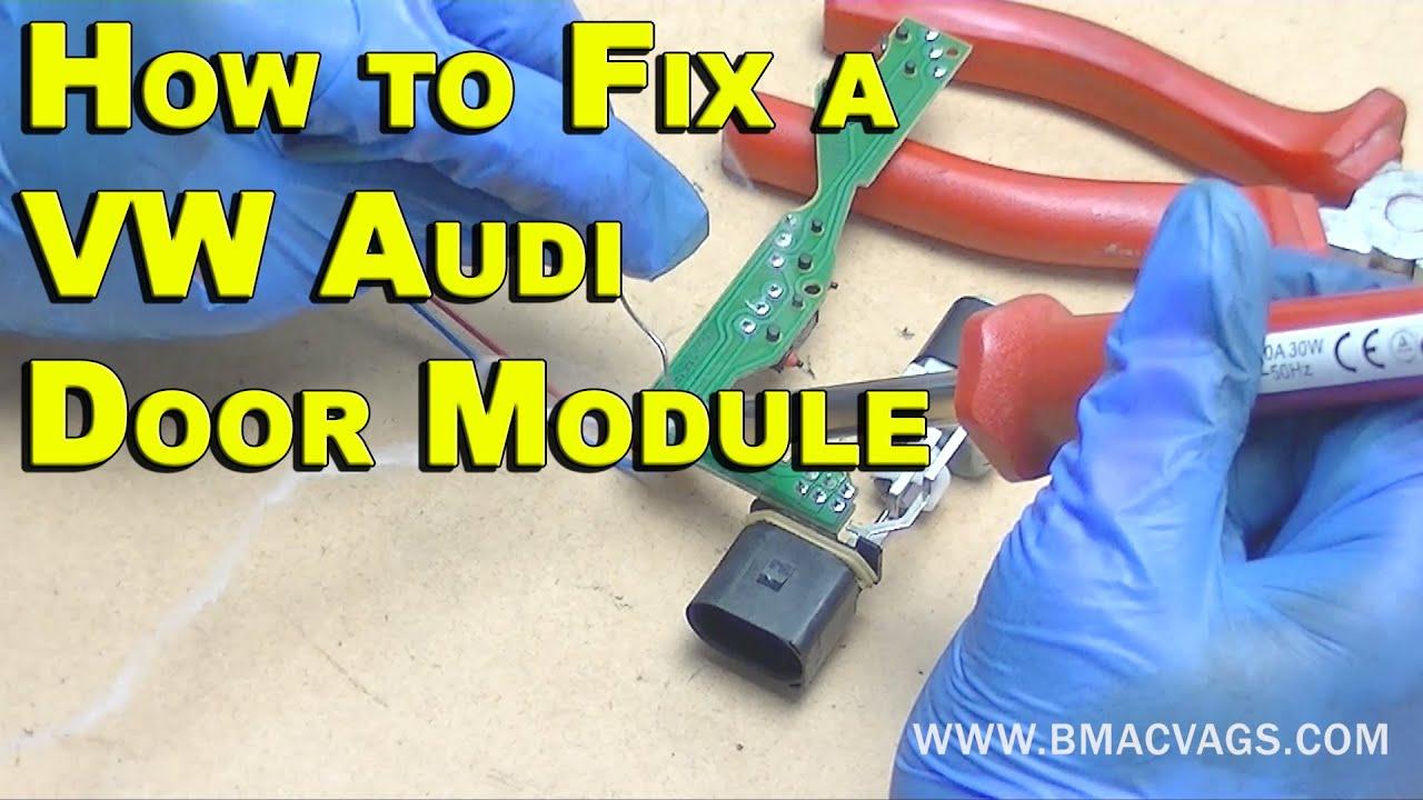 how to fix a vw door lock module permanently [ 1280 x 720 Pixel ]