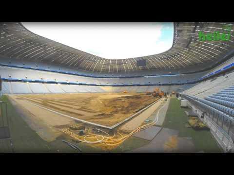 FC Bayern München - Umbau der Allianz Arena 2014 mit heiler