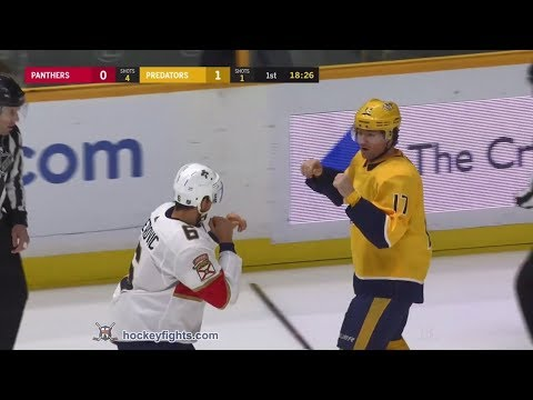 Alex Petrovic vs Scott Hartnell Jan 20, 2018