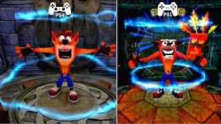 Crash Bandicoot 2 N.Sane Trilogy Remaster PS4 vs PS1 Graphics Comparison