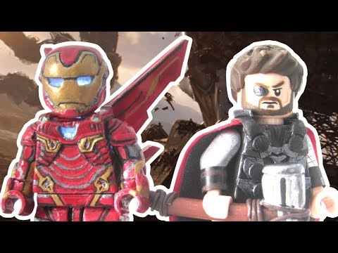 LEGO Avengers Infinity War Custom Minifigure- Iron Man (LED) & Thor