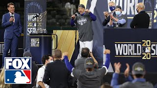 Dodgers receive Commissioner's Trophy as World Series champions for first time in 32 years | FOX MLB