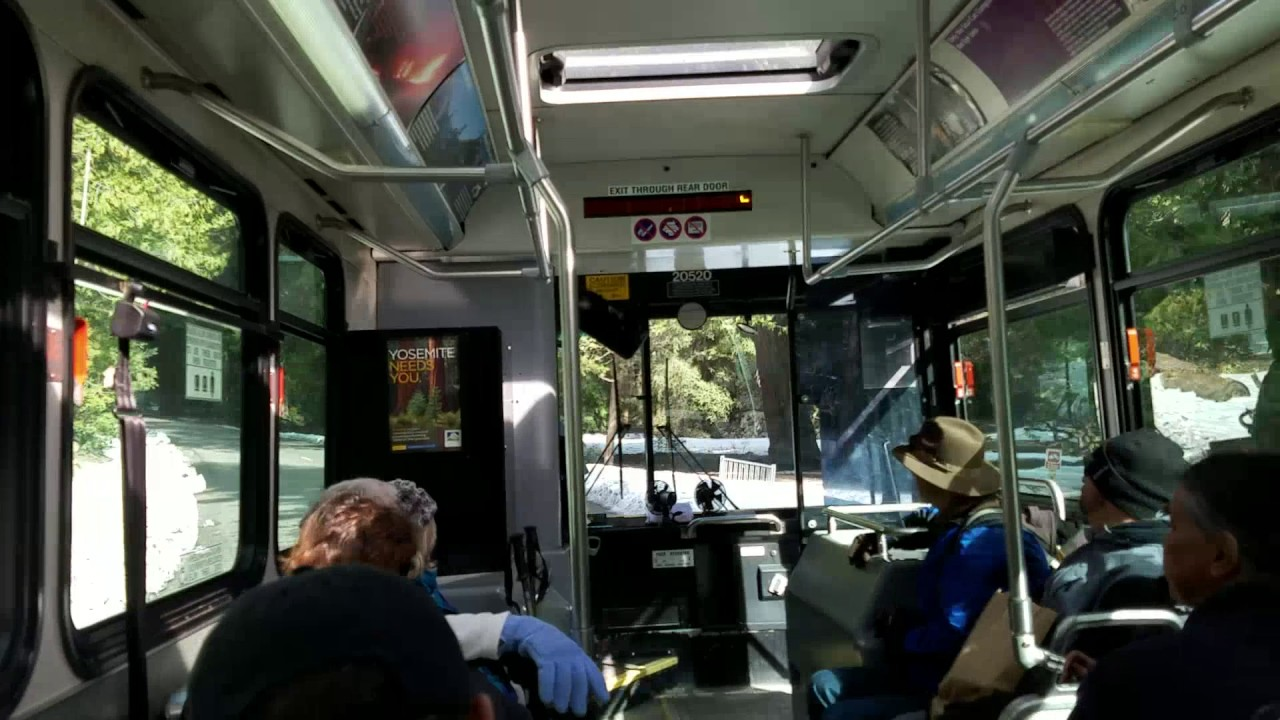 Yosemite National Park Free Shuttle Bus Service Valley California