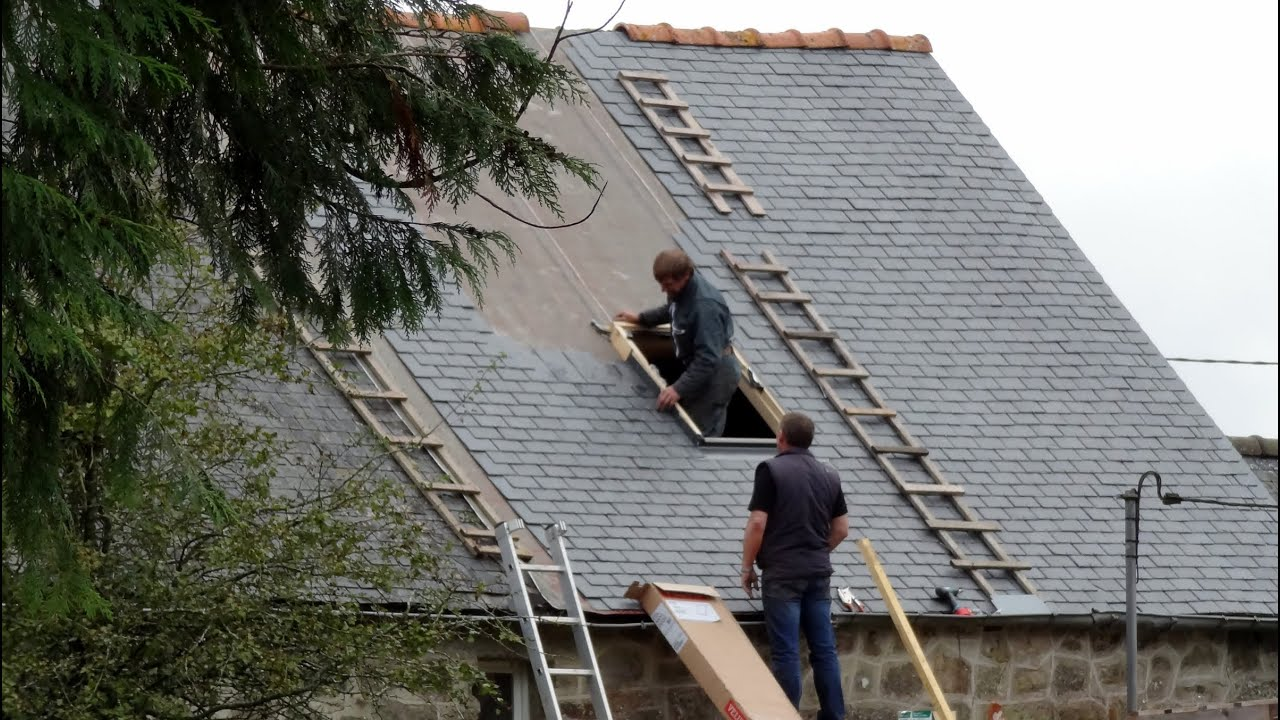 Re Slating Roof Brittany France October 2012 Youtube