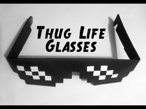 How to make: Paper Thug Life Glasses - Deal with it