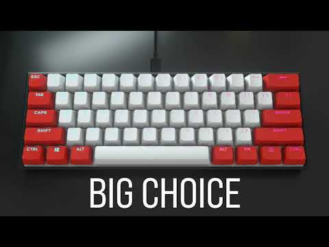 K65 RGB MINI 60% Mechanical Gaming Keyboard - SMALL SIZE, BIG ATTITUDE