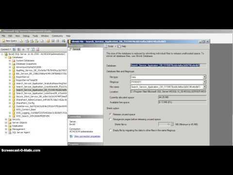 Shrink A SQL Server Log File
