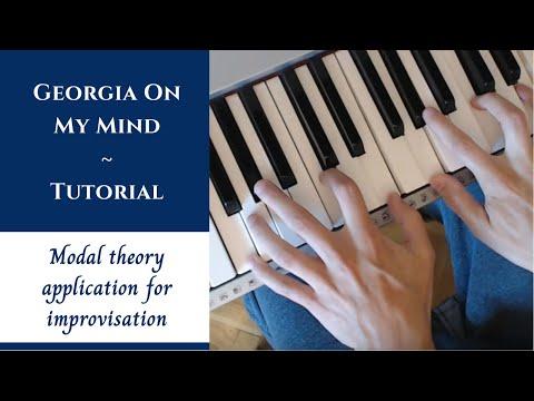 Jazz Piano Lessons on Improvisation - Georgia On My Mind - Analysis Part 2/2