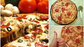 КАК ПРИГОТОВИТЬ ПИЦЦУ Итальянская Тонкая Традиционная Рецепт теста тонкой пиццы Oxana Moscow