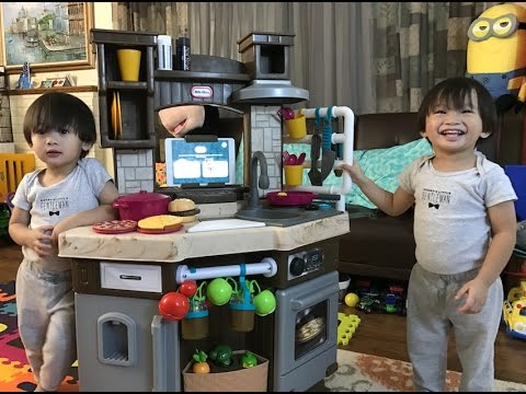 Little Tikes Cook N Learn Smart Kitchen Set Unboxing Kids Toys Review