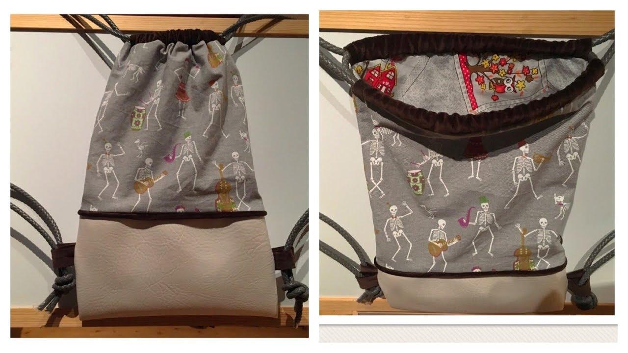 b2676d6be9b06 Rucksack zweiteilig mit Paspel   Innenfutter (Schräg- und Paspelband selbst  herstellen)