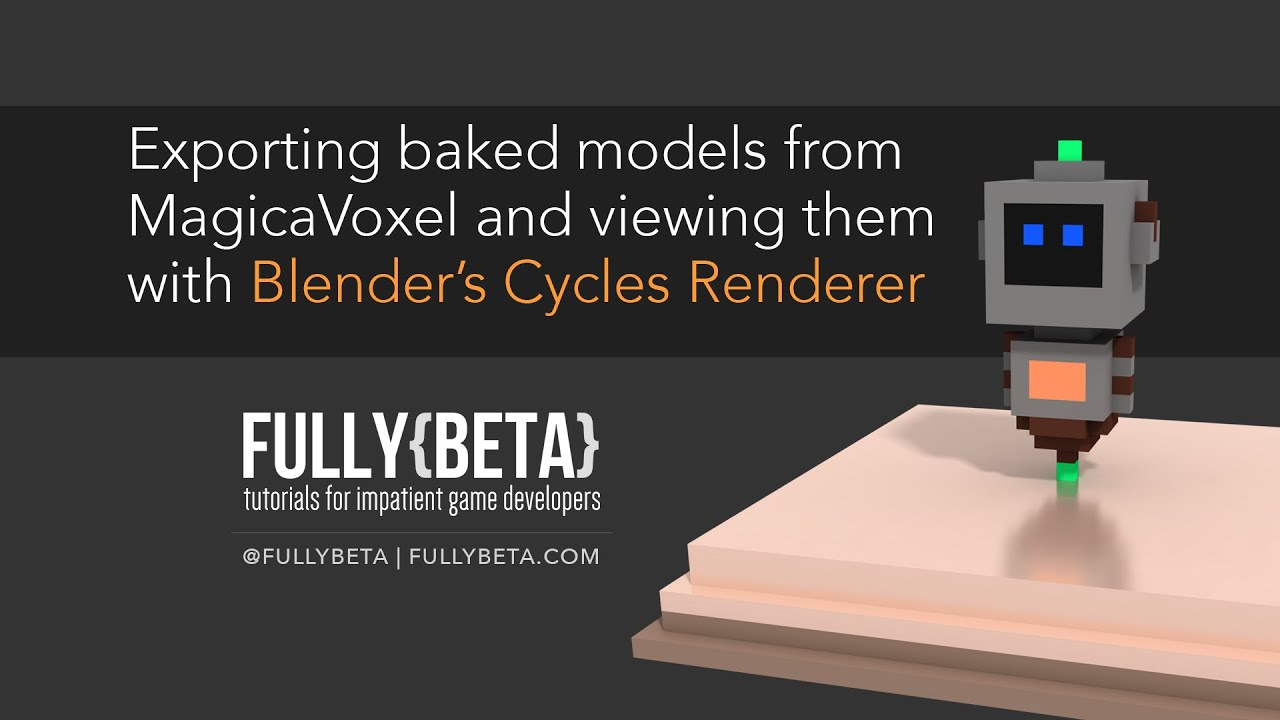 How to View Baked Vertex Color From MagicaVoxel in Blender Cycles Renderer