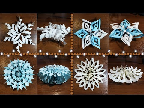 TOP 4 SNOWFLIES ❄ FROM PAPER 3d and beautiful | How to make a snowflake out of paper