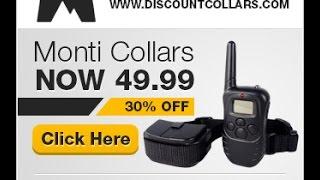 Monti Collars Remote Dog Training Shock Collars