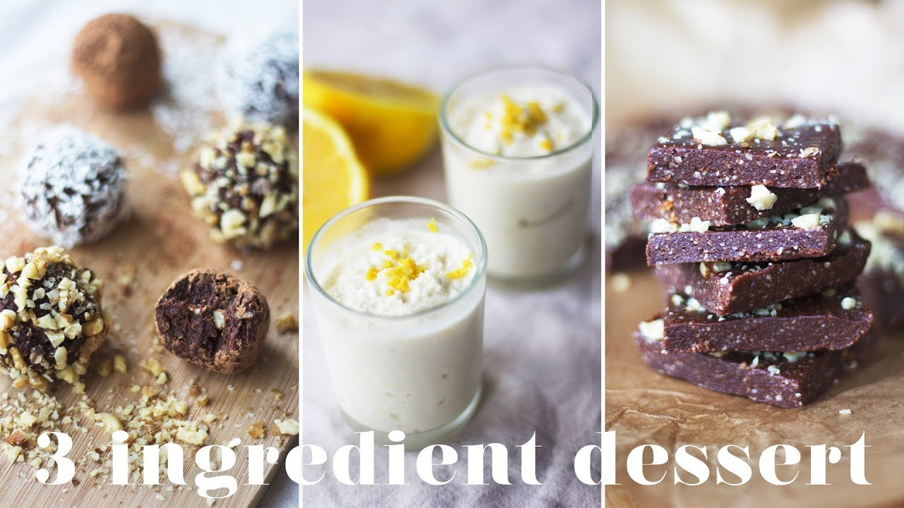 3 INGREDIENT VEGAN DESSERTS | Easy & Quick Recipes You Have to Try!