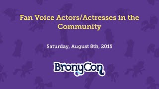 Fan Voice Actors/Actresses in the Community