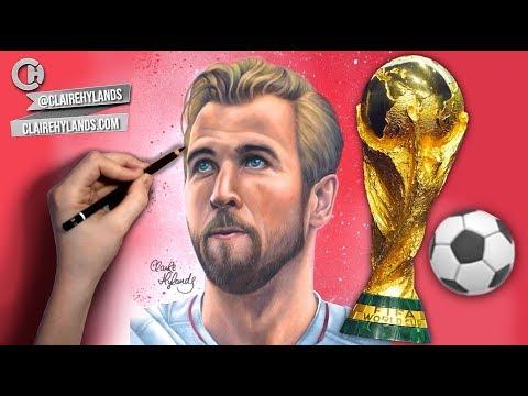DRAWING HARRY KANE - ⚽ GOLDEN BOOT WINNER - WORLD CUP RUSSIA 2018 ⚽