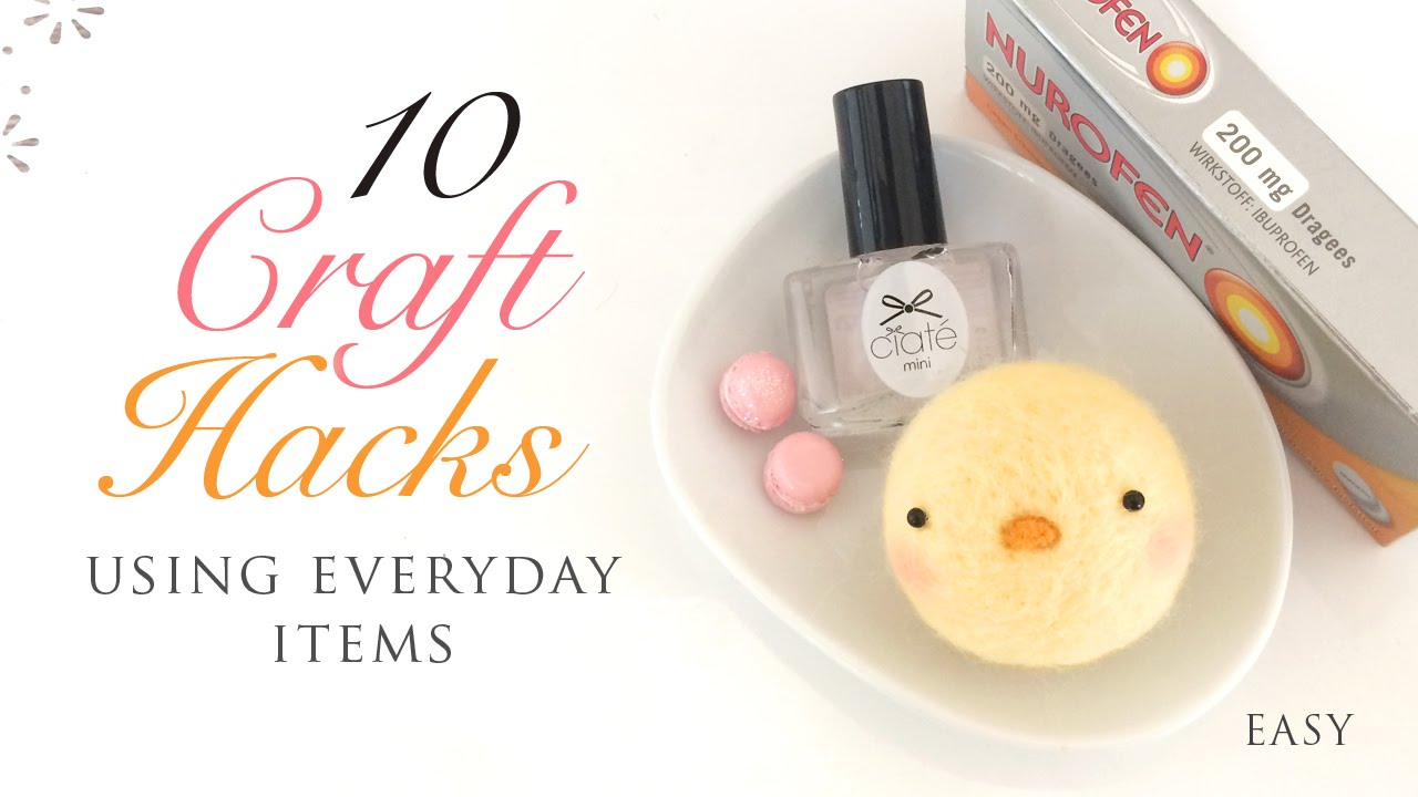 10 craft hacks using everyday items youtube for Minimalist household items