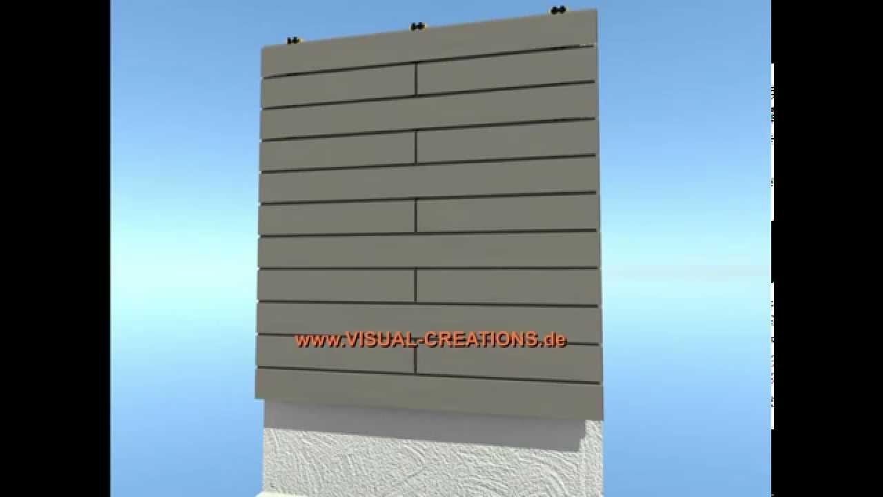 WPC Fassaden System Haus Gebäude Wandverkleidung Mauer - YouTube