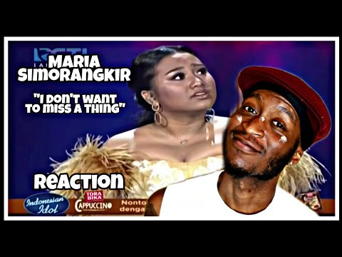 Maria Simorangkir - I Don't Want to Miss a Thing  LIVE  * Reaction *