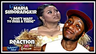 Maria Simorangkir - I Don't Want To Miss A Thing ( LIVE ) * Reaction *