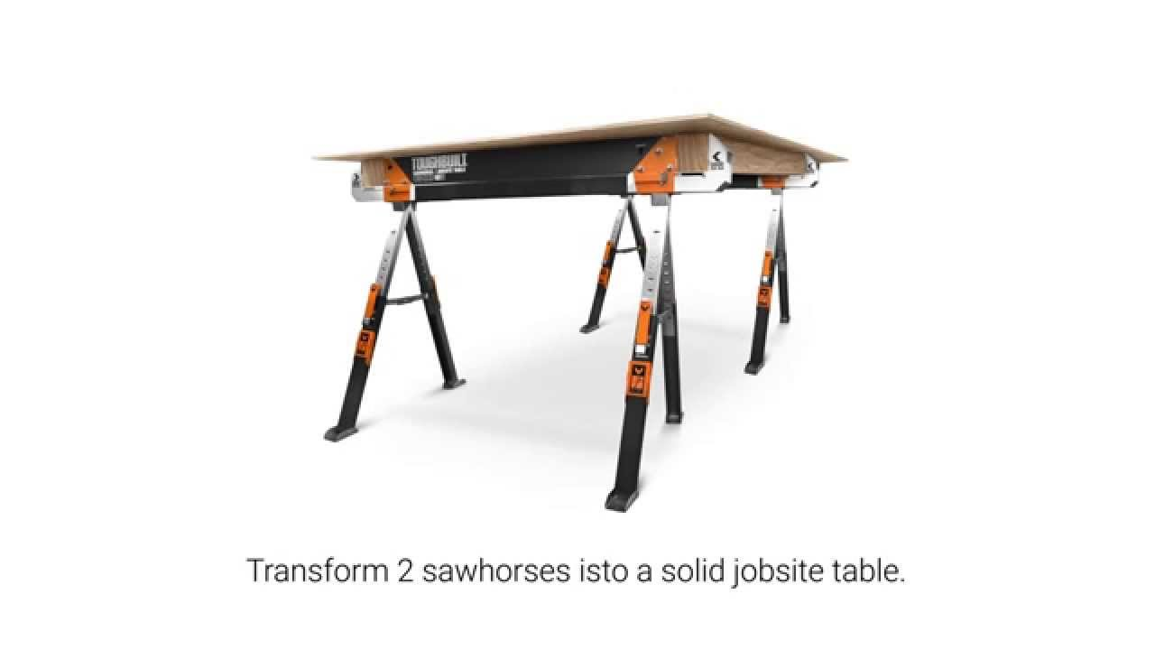 C700 Folding Sawhorse / Table Saw - YouTube