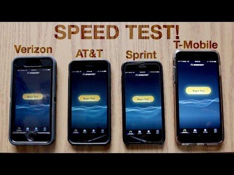 Verizon vs. AT&T vs. Sprint vs. T-Mobile Speed Test! | November 2016
