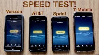 Verizon vs. AT&T vs. Sprint vs. T-Mobile Speed Test! | November 2016