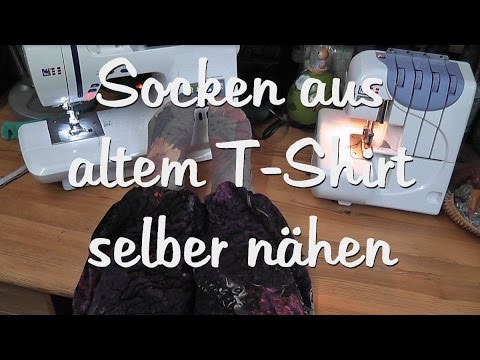 teil 2 socken nach eigenem schnittmuster aus t shirt. Black Bedroom Furniture Sets. Home Design Ideas