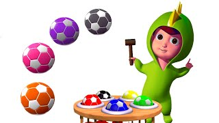 Colors for Children to Learn with Football Soccer Balls Toy Dino Baby Toy for Kids to Learn Colors