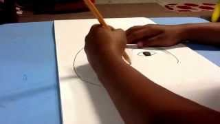 How to draw a Portrait by Flora Dixit