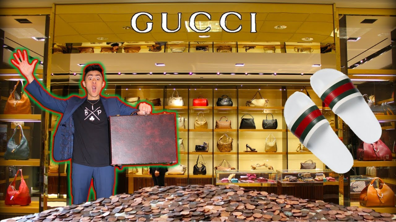2d2772ce4 BUYING GUCCI FLIP FLOPS WITH PENNIES! - YouTube