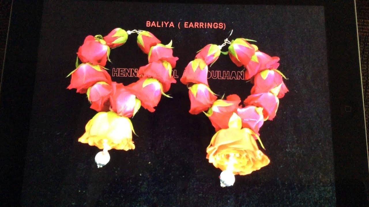 I Mehndi Flower Jewelry : ✿fresh flower jewelry for brides new york youtube