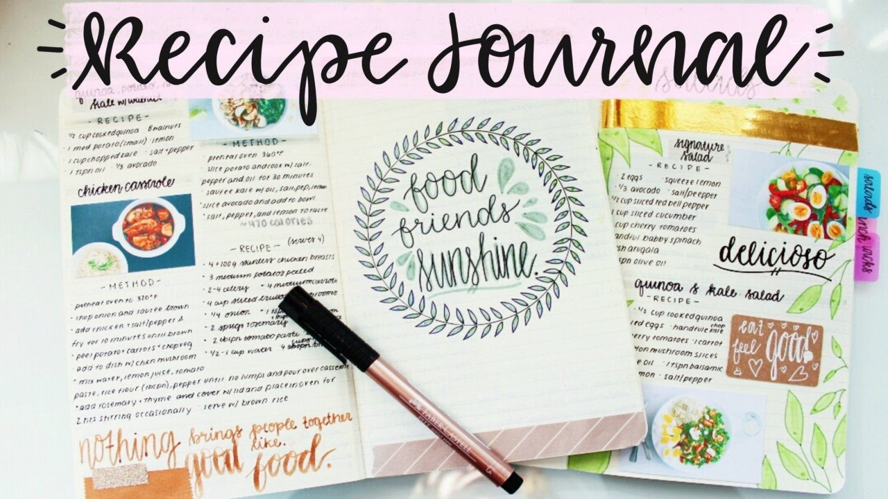 recipe journal setup and flip through youtube