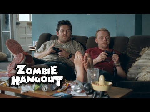 Shaun of the Dead - Zombie Clip 1/8 Roommate Troubles (2004) Zombie Hangout