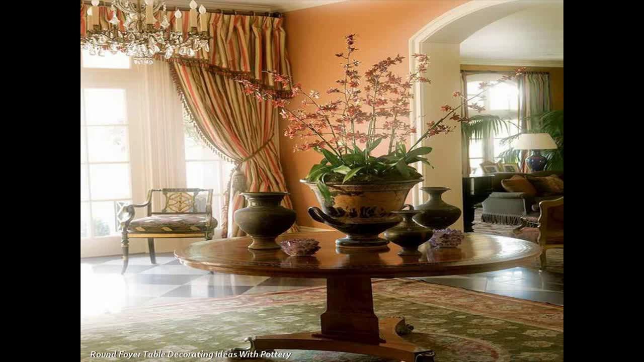 Round Entrance Hall Table Decor Ideas