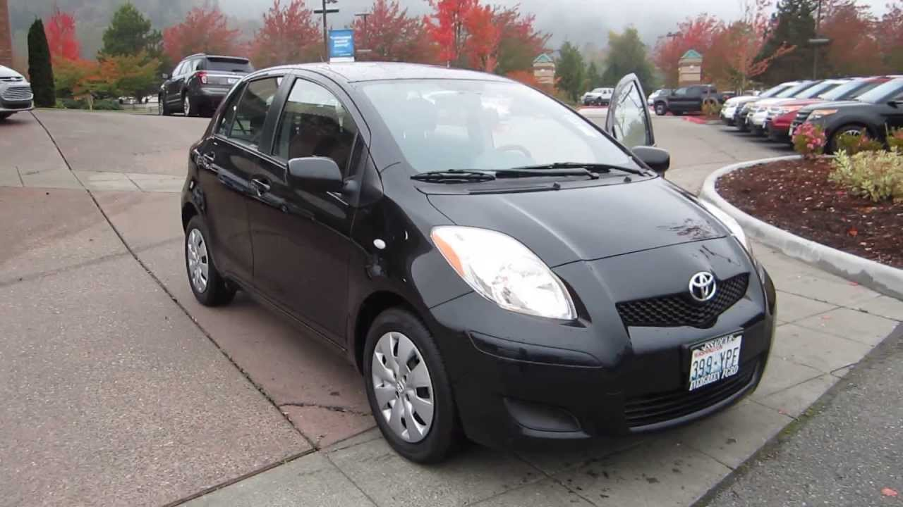 2009 toyota yaris black stock 13 3371a youtube. Black Bedroom Furniture Sets. Home Design Ideas
