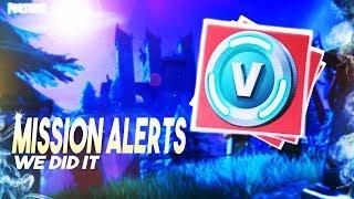 *WE GOT EM* Changes to Mission Alerts | V-bucks | Fortnite Save The World