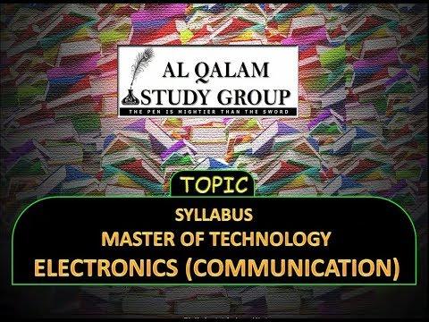 SYLLABUS M TECH ELECTRONICS (COMMUNICATION)'