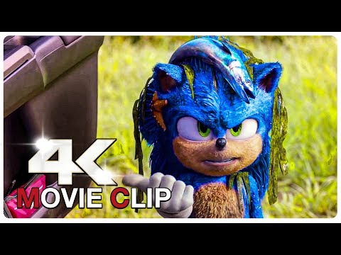 Play Fluffy Sonic Scene - SONIC THE HEDGEHOG (NEW 2020) Movie CLIP 4K