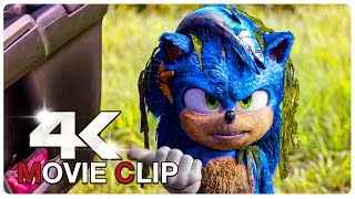 Fluffy Sonic Scene - SONIC THE HEDGEHOG (NEW 2020) Movie CLIP 4K