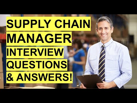 SUPPLY CHAIN MANAGER Interview Questions U0026 Answers! HOW TO PASS A Supply Chain Management Interview!