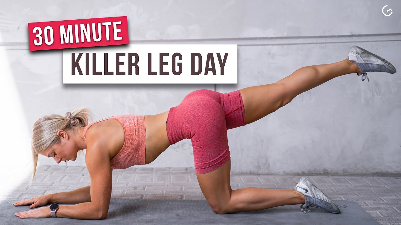30 MIN KILLER LEG WORKOUT – Lower Body, No Equipment, No Repeat – (HIIT IT HARDER DAY 23)