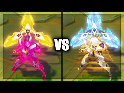 PROJECT: Irelia vs Prestige PROJECT: Irelia Skins Comparison (League of Legends)
