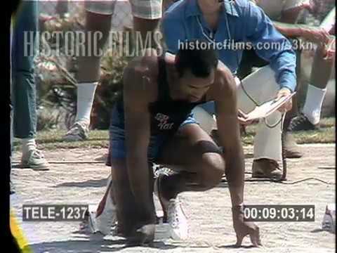 1972 AAU Track Meet - 100 yard dash featuring John Carlos