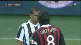 Gattuso VS Felipe Melo |:| Friendly AC Milan VS Juventus